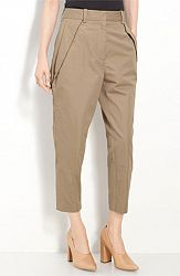 3.1 Phillip Lim Microtwill Crop Trousers 8, PECAN