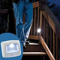 Motion-Sensor LED Battery Powered Stair Light
