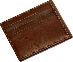 Tony Perotti - Ultimo Executive Money Clip with Credit Card Slots (Men's) - Brown