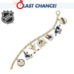 NHL® Edmonton Oilers® Charm Bracelet: Collectible Hockey Jewellery