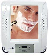 Zadro ZRA01 Fogless Shaving Shower Mirror Radio With Clock H3C0CTXKB-0604