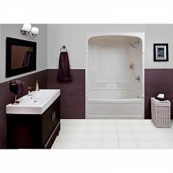 Victoria 60 Inch 3 Piece Acrylic Tub And Shower Combination Whirlpool Jet Air
