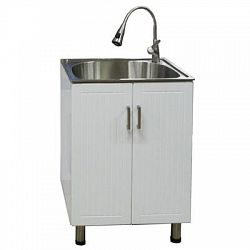 18 Inch Utility Sink With Cabinet : Utility Cabinet with Deep Stainless Steel Sink - Sale Prices - Deals ...