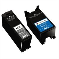 Lexmark Single Use Standard Yield Color Cartridge With Black catridge (Series 21) For Select Dell All-in-One printers