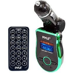 Pyle Pmp3g2 Mobile Sd/Usb/Aux/Mp3 Compatible Player with Built-in Fm Transmitter, Green