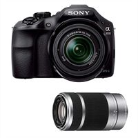 Sony a3000 interchangeable lens digital camera bundle with 18-55mm and 55-210mm lenses