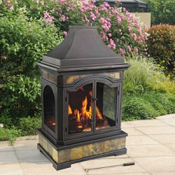 Sunjoy Monroe Outdoor Wood Burning Fireplace Sale Prices