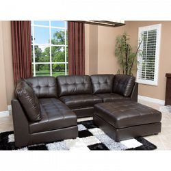 Calvin Top Grain Leather Modular Sectional Sale Prices