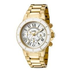 Women's a line 20108DV Gold Tone Stainless Steel/White Textured