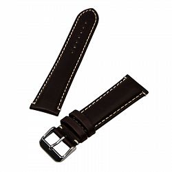 Hadley Roma Brown 22 mm Wide Genuine Oil Tan Leather Strap