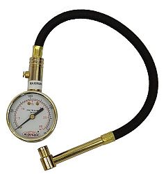 Accu-Gage RA30X (5-30 PSI) Right Angle Chuck Dial Tire Pressure Gauge with Hose