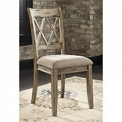 Ashley Mestler Upholstered Dining Chair In Antique White Sale Prices Deal