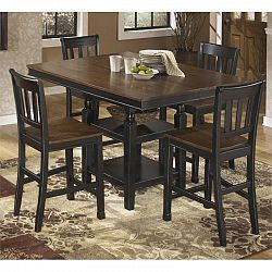 ashley owingsville 5 piece counter height dining set in brown sale