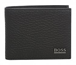 Hugo Boss Leather Wallet: 'Manprio' - Black / One Size