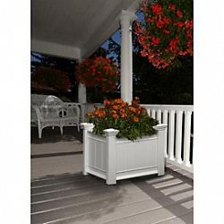New England Arbors Barcelona Planter Box White Small