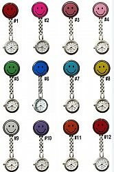 2013 New Doctor Metal Stainless Nurse Medical Smile Face Watch Watches With Clip Pocket Watch 100pcs/lot