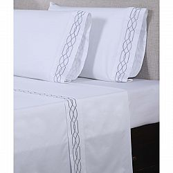 Affluence 600 Thread Count Lattice Embroidered Pillowcase