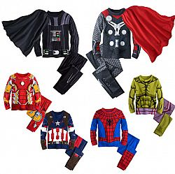 Children's Cotton Cartoon Pajamas Sleepwear Kids Super Heros - Thor / 8