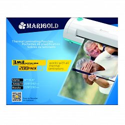 "Marigold 3mil Letter Size (9""x11.5""inches) Thermal Laminating Pouch"