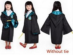Harry Potter Robe Cloak Halloween Costumes For Kids - Kids Without Tie 2 / 9T / Harry Potter