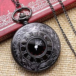 Hot Sale Classic Vintage Old Antique Pendant Pocket Watch With Necklace Chain. Best Gift For Birthday/ Fathers Day/ Christmas - Vintage Black