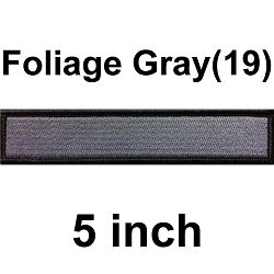 5inch-Custom Military Name Tape Tactical Patch - Hook Fastener/ Iron-on sew 100 colors_Made in USA - 5 inch / Foliage Gray (19) / Hook Fastener