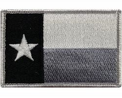 "V36 Tactical TEXAS State flag patch Subdued Black & White 2""x3"" Velcro Hook *Made in USA*"