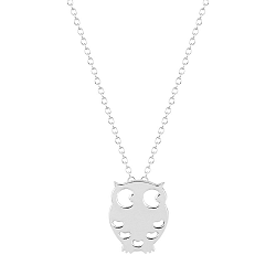 Night Owl Pendant - Silver