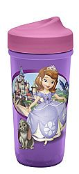 Zak Designs Toddlerific Perfect Flo Toddler Cup with Sofia The First, No-Spill