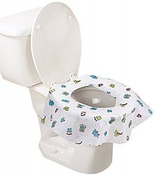Summer Infant Keep Me Clean Disposable Potty Protectors, Green/White, 45 Count
