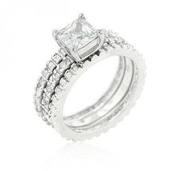 Bridal Triple Ring Set (size: 10) R08269R-C01-10