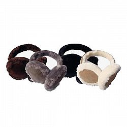 Women's Faux Fur Insulated Winter Ear Muffs - Brown/White