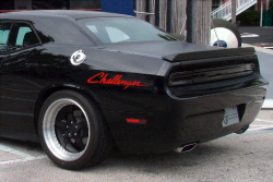 dodge challenger decal - Pink
