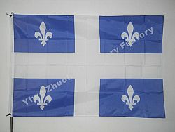 Quebec Flag 150X90cm (3x5FT) 120g 100D Polyester Free Shipping Canadian Provinces - 144X96CM -1PCS / shaft cover