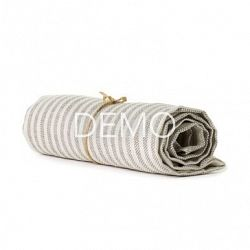 [Sample] Fog Linen Chambray Towel - Beige Stripe