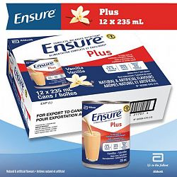 Ensure Plus, Complete Balanced Nutrition, Vanilla, 12 X 235 Ml Can