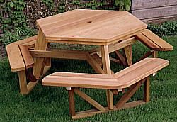 Outdoor Plans - Hexagon Picnic Table Plan - Sale Prices - Deals ...