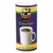 Non-Dairy Creamer Canister, Reclosable Lid, 12 oz, White, 3 Per Pack