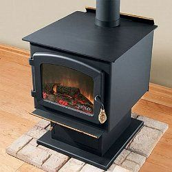 Drolet 'Myriad' Arched Window Design EPA Deluxe Wood-burning Stove
