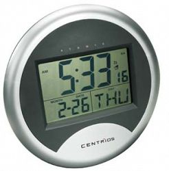 centrios self setting wall clock with calendar and alarm sale rh shoptoit ca  centrios atomic clock manual