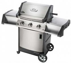 "Napoleon PT308RBNSS-3 Stainless Steel / Natural Gas Prestige II Prestige 56"" Wide Grill with Infrared Rotisserie Burner"