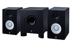 yamaha hs50 studio monitor package with hs10 subwoofer
