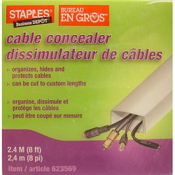 staples 2 4 m wall cable concealer sale prices deals canada 39 s cheapest prices shoptoit. Black Bedroom Furniture Sets. Home Design Ideas