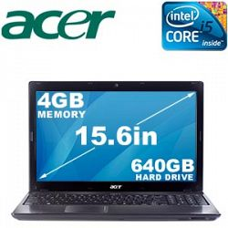 Acer® Aspire AS5741G-3652, Bilingual Core™ i5-430M, 15.6-in. HD LCD 4 GB, 640 GB