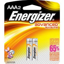 Energizer Advanced Alkaline AAA Battery 2-Pack
