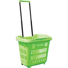 "Eco-Club 36"" EZ Roller Rolling Basket - Green"