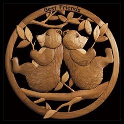 Two Bears on a Branch Intarsia Pattern