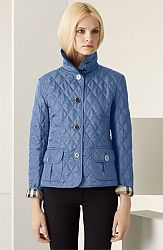 Burberry Brit Diamond Quilted Jacket Large, BLUEBELL