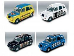 Beatles Diecast 1/64th Scale Taxi Set of 4