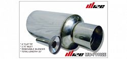 """Wize Mufflers - N1 Type - 4"""" Tip 2.75"""" Inlet w /Silencer [Universal - Fits all Cars]"""